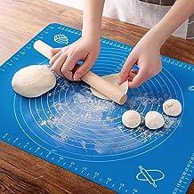 حصيرة الخبز المصنوعة من السيليكون وأدوات وملحقات الخبز، حصيرة معجنات مع لوازم الخبز، حصيرة سميكة غير لاصقة 45.72 سم × 66.0...