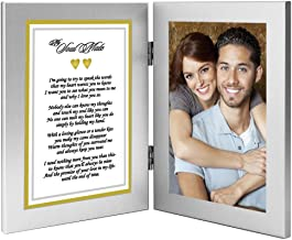 Best Anniversary, Christmas or Birthday Gift for Wife, Husband, Girlfriend or Boyfriend - Soulmate Romantic Love Poem Plus Your Cute Photo in Double Frame