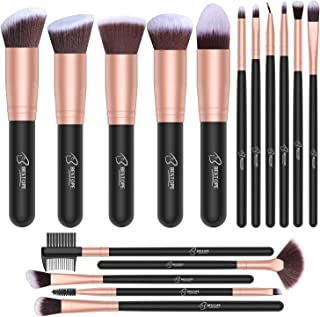 Set de brochas de maquillaje profesional BESTOPE 16 piezas Pinceles de maquillaje Set Premium Synthetic Foundation Brush B...