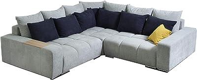 Meubletmoi Canapé D Angle Droit Tissu Gris Confortable