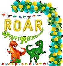Dinosaur Party Supplies Decorations Balloons Garland Kit with Golden ROAR Little Dino Party Decorations Set for Kids 1 2 3...