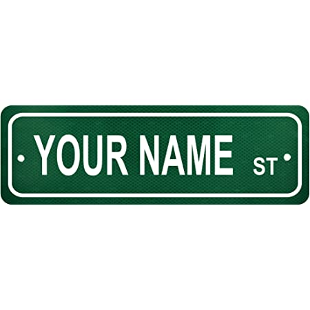 WALKER Personalized Street Sign Home Decor Chic Gift 4x18 104180003537