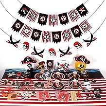 Rode En Zwarte Cool Thema Piraten Partij Servies Wegwerp Keukengerief Paper Products Decoraties Voor Holiday Verjaardag, B...