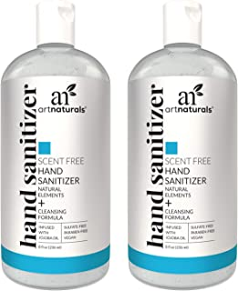 Artnaturals Alcohol Based Hand Sanitizer Gel (2 Pack x 8 Fl Oz / 220ml) Infused with..