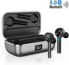 Ture Wireless Earbuds Bluetooth 5.0, in-Ear Noise Cancelling Bluetooth Headphones 40H Playtime with Dual-Mic Stereo Headset Touch Control Compatible with Smartphones Tablets (Black)