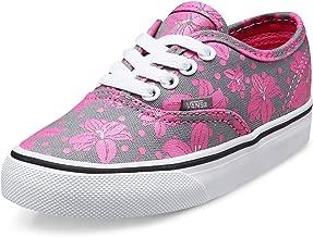 Vans Toddler Authentic (Flower Polka) Frost Gray/Azalea Pink Skateboarding Shoe