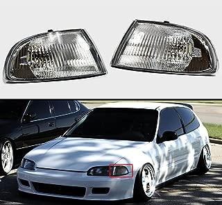 Fits for 1992-1995 Honda Civic 2/3 Door EG JDM Vision Corner Lamp Turn Signal Lights Clear Lens