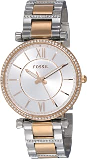 Fossil Womens Quartz Watch, Analog Display and Stainless Steel Strap ES4342