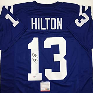 Autographed/Signed TY T.Y. Hilton Indianapolis Blue Football Jersey PSA/DNA COA
