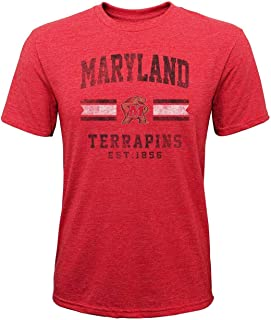 Maryland Youth NCAA Triple Stripe Player Pride T-Shirt - Red,