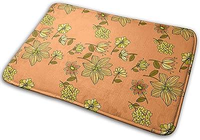 Pepper Flowers Carpet Non-Slip Welcome Front Doormat Entryway Carpet Washable Outdoor Indoor Mat Room Rug 15.7 X 23.6 inch