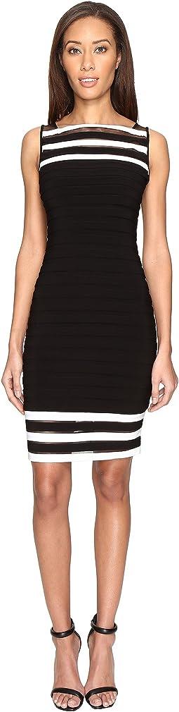 Matte Jersey Banded Sheath Dress