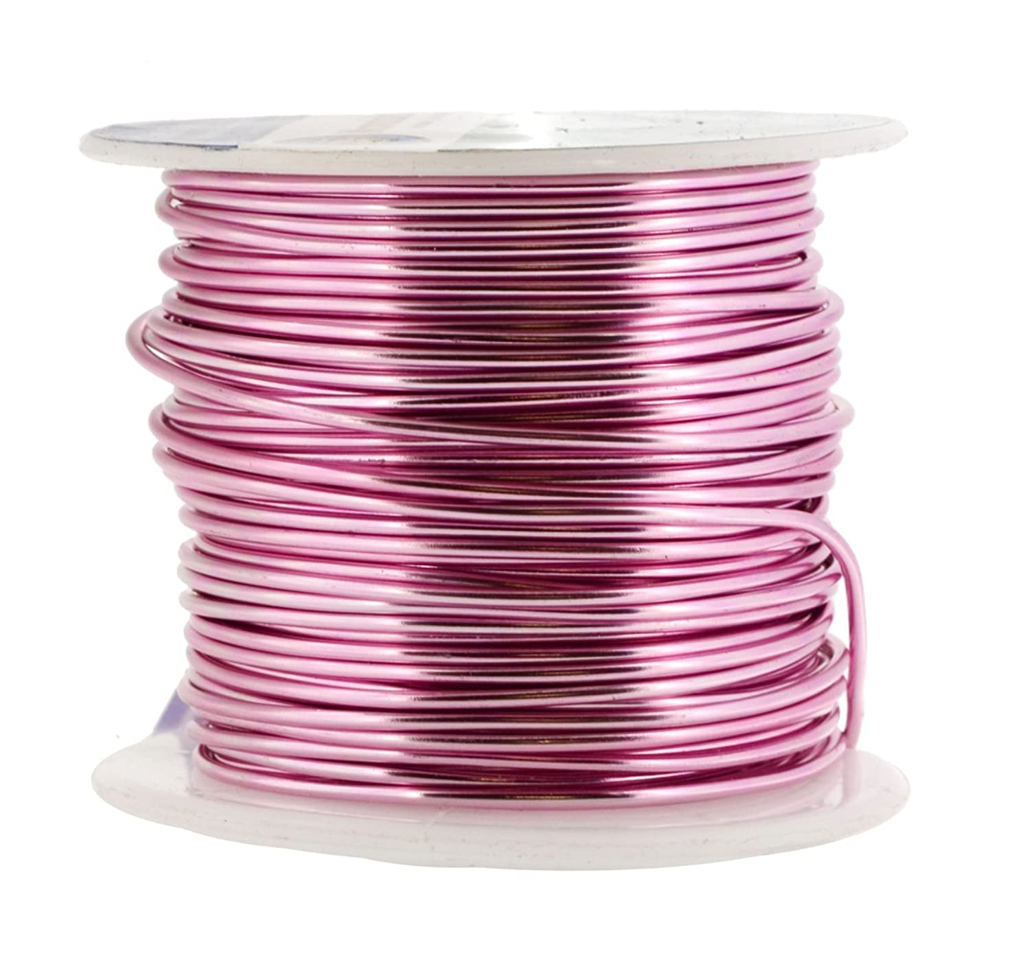 Mandala Crafts Anodized Aluminum Wire for Sculpting, Armature, Jewelry Making, Gem Metal Wrap, Garden, Colored and Soft, 1 Roll(16 Gauge, Pink)