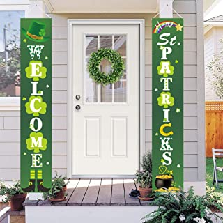 Dazonge St. Patrick's Day Decorations   Lucky St. Patty's Day Welcome Signs for..