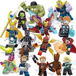 16pcs Superhero Mini Action Figures - Mini Super Heroes Figures with Accessories - Super Heroes Set - DIY Toys Children