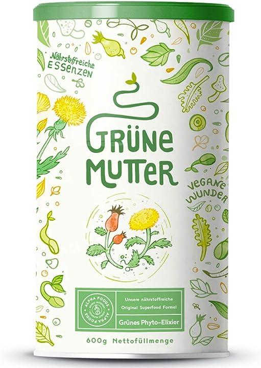 Frullato proteico alpha foods erba di grano ortica cardo mariano alghe brune erba medica coenzimaq10 B015BJKVHG
