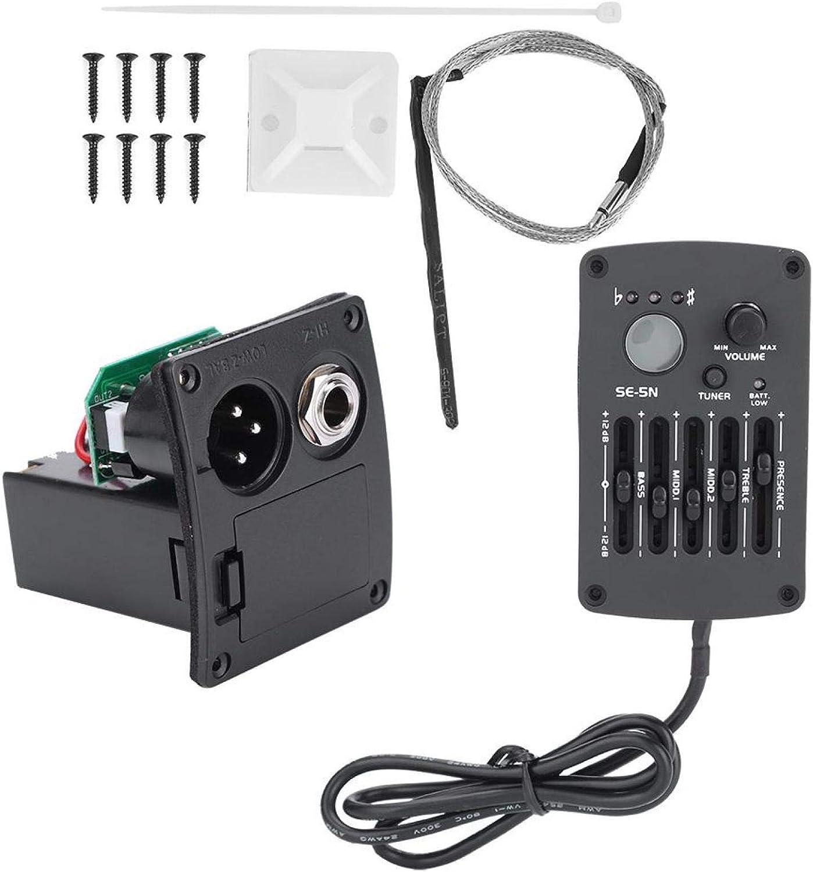 Ecualizador de guitarra, SE-5N, ecualizador de 5 bandas, sintonizador de pastilla para guitarra acústica, kit de accesorios para instrumentos musicales