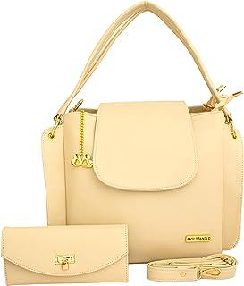 I DEFINE YOU Angel Women's Handbag and Wallet Combo (Cream)