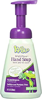 Hand Soap for Kids, Magic Melon Scent by Kandoo, Brightfoam Moisturizing Colored Foaming Soap with Vitamin E, Lets kidsknow When They are Covered, 8 oz, Pack of 4