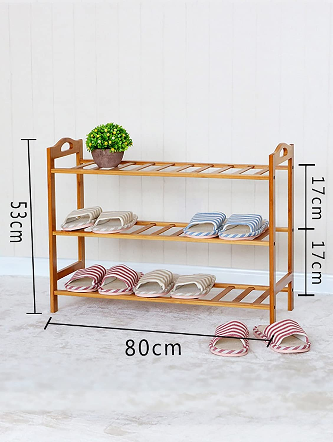 shoes Bench Organizing Rack Nanzhu Small shoes Rack Multi - Storey shoes Cabinet Solid Wood Storage shoes Rack j Simple Modern Assembly Living Room shoes Rack (Size   80cm)