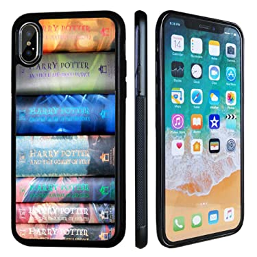 VONDER iPhone Xs Case,iPhone X Case, Harry Potter Books Sets Design Black TPU Phone Case for iPhone Xs,iPhone X Cover