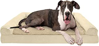 Furhaven Pet Dog Bed   Memory Foam Ultra Plush Faux Fur & Suede Traditional Sofa-Style Living Room Couch Pet Bed w/Removab...