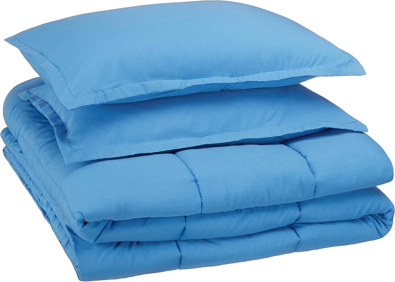 Basics Easy-Wash Microfiber Kids Comforter and Pillow Sham Set Twin Purple Unicorns