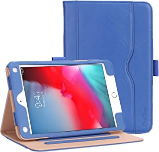 Procase iPad Mini 5 Case 2019 / iPad Mini 4 Case 2015, Vintage Stand Folio Case Smart Cover for 7.9 Inch Apple iPad Mini 5th Generation 2019 / iPad Mini 4, with Auto Sleep/Wake -Navy