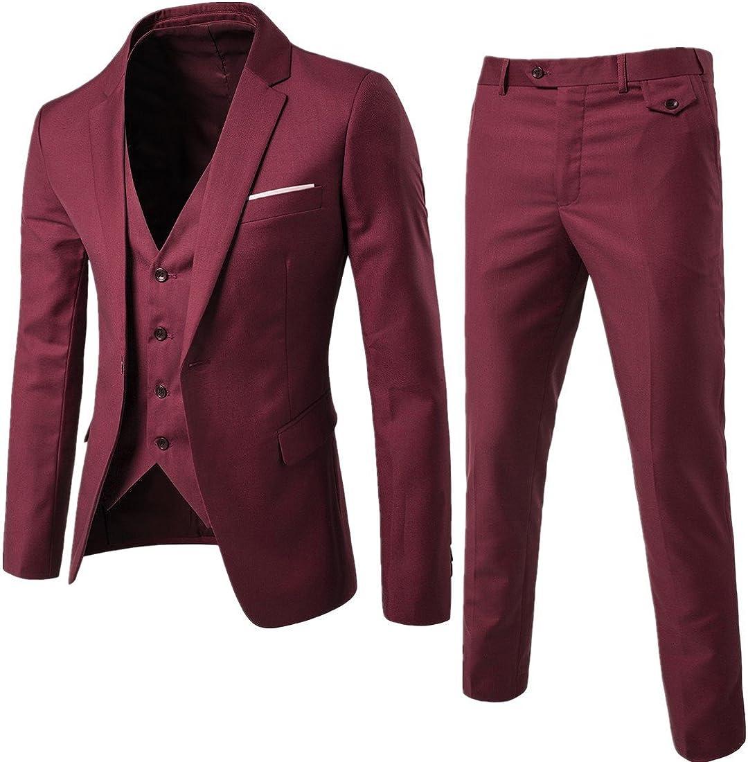 Challenge the lowest price of Japan ☆ Lavnis Men's 3-Piece Business Suit One Slim Bl Tuxedo Ranking TOP14 Button Fit