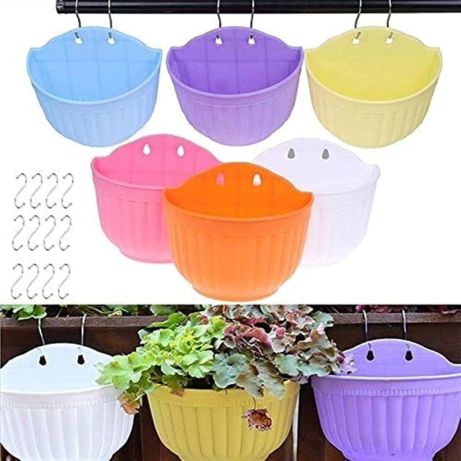 Pots Flower Pot Wall Product Max 59% OFF Hanging Balcony Flo