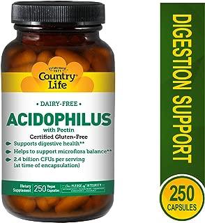 Country Life - Natural Dairy-Free Acidophilus with Pectin - 250 Vegan Capsules