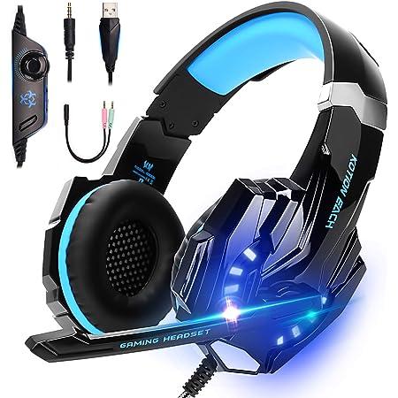 LonEasy Auriculares para Juegos, Auriculares para Juegos con Aislamiento de Ruido con Cable de,Control del Volumen audifonos Gaming