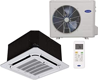 Carrier single zone Ductless heat Pump ( Cooling & Heating ) Performance series- Cassette Syle, Grille included- 18,000 BTU. Indoor Unit- 40MBCQ18-3 Outdoor Unit- 38MAQB18R-3