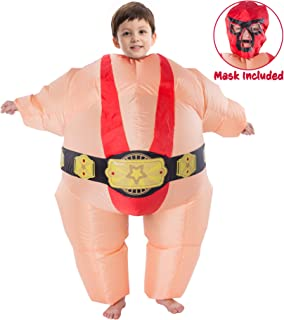 Inflatable Costume Sumo Wrestler Air Blow-up Deluxe Halloween Costume - Child Size Fits 7-10 Yrs (50