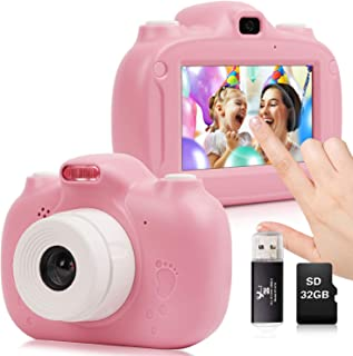 Kids Camera, 30MP Digital Camera for Kids Gifts, 3 Inch HD Touch Screen 1080P Digital Video Camera for Kids 3-10 Year Old ...