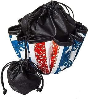 ABS Novelties Flag Pattern 10 Pocket Tote Black