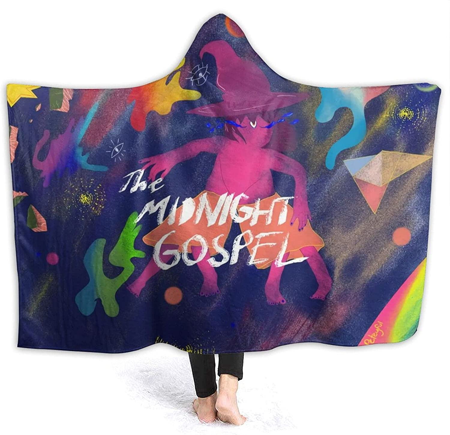 The specialty shop Mid-Night Gos-Pel Hooded Blanket Soft supreme Flannel Anime C Fleece