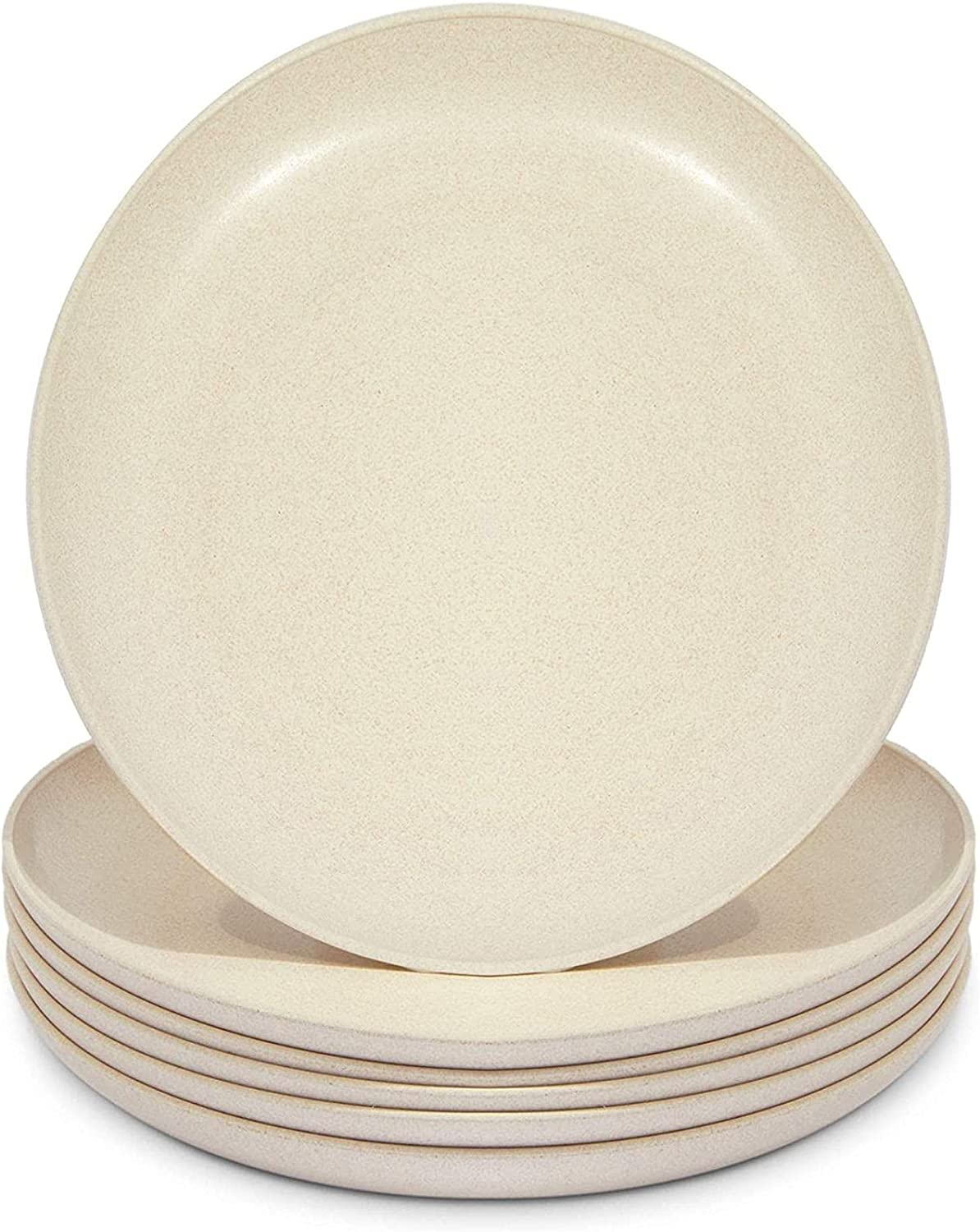Wheat Straw Plates Unbreakable Dinner Plate 6 Beige Time sale Pac 8 In Super beauty product restock quality top
