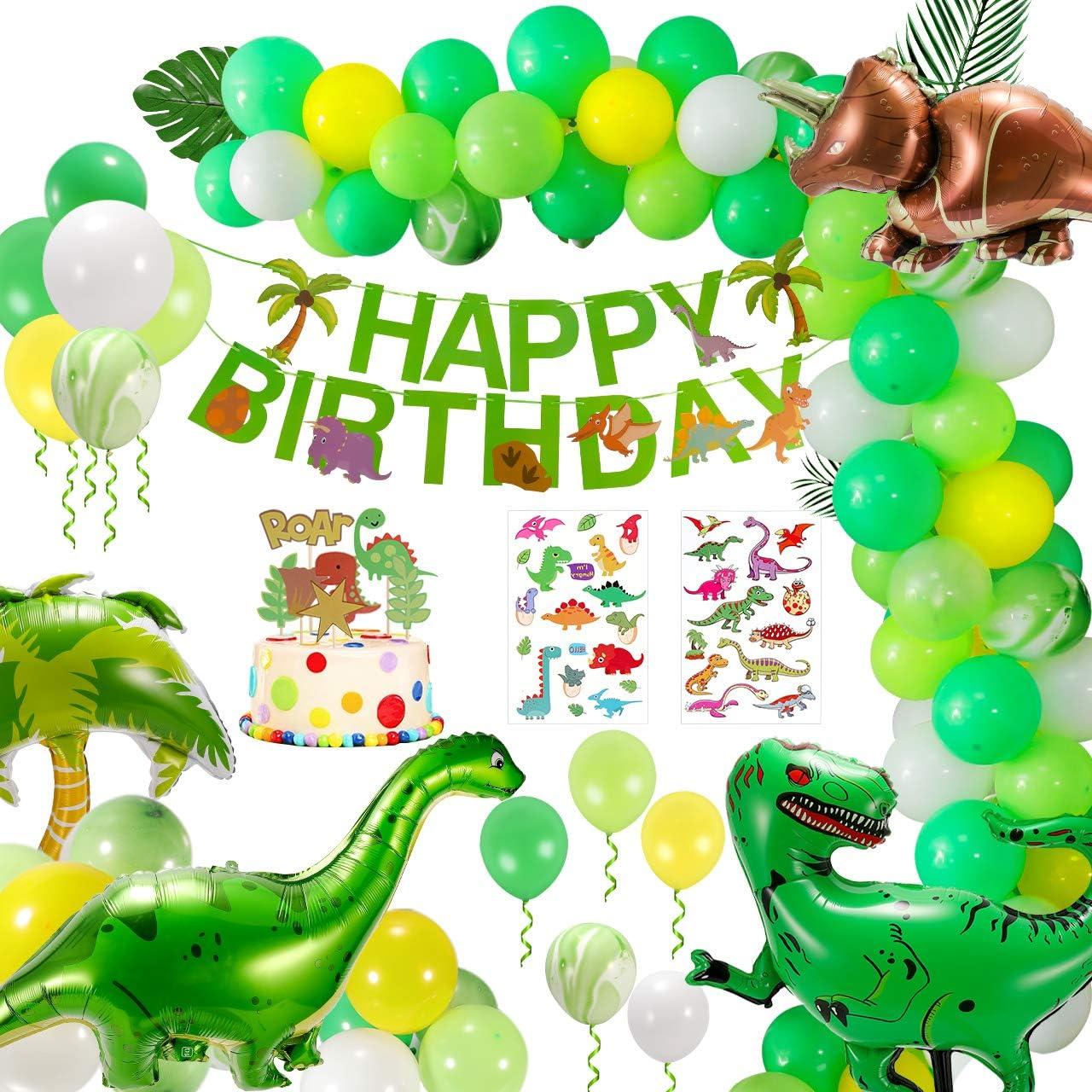 Kindergeburtstag Deko Dekoration, Dinosaurier Dschungel Geburtstag ...