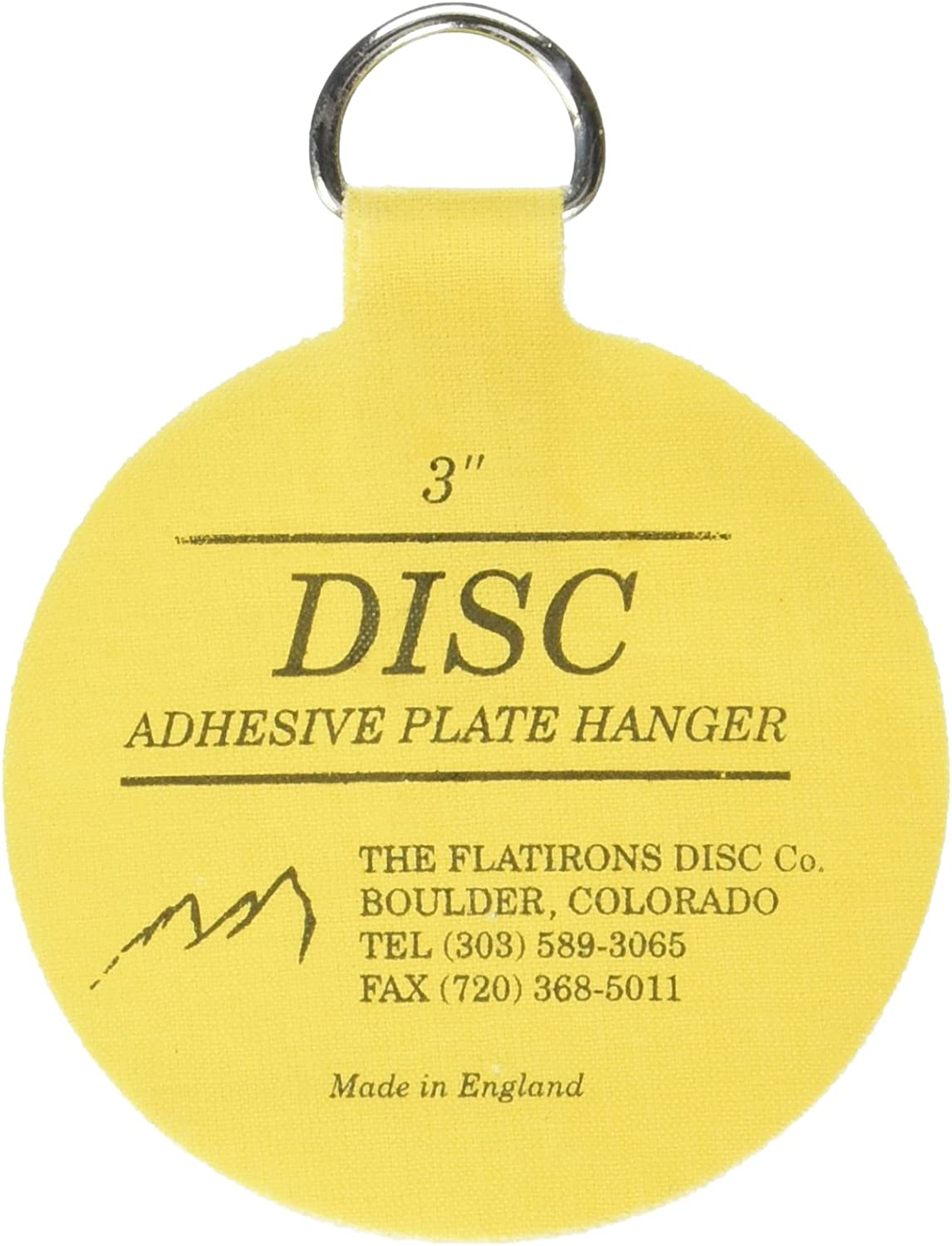 Invisible English Disc Adhesive Medium Plate Hanger Set (4-3 Inch Hangers)