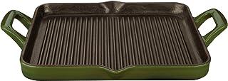La Cuisine 1 Qt Rectangular Enameled Cast Iron Grill Pan, Green