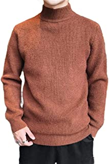 MogogN Men's Pullover Solid Colored Essential Mock Neck Thermal Warm Sweatshirt