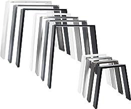 2x Natural Goods Berlin Classic Design meubelonderstel, metaal, tafelpoten van Scandinavisch, houten tafelframe, tafelonde...