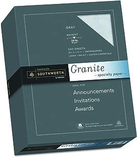 Southworth Fine Granite Paper, 24 lb, Gray, 500 Count (914C)