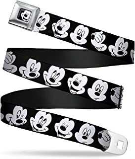 32-52 Inches in Length Buckle-Down Seatbelt Belt 1.5 Wide Tinker Bell Scenes Black//White