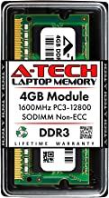 A-Tech 4GB DDR3 1600MHz PC3-12800 Laptop RAM SODIMM Module | Non-ECC Unbuffered 204-Pin Memory Upgrade Stick