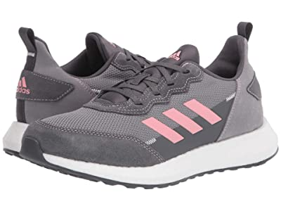 adidas Kids RapidaBoost SL (Big Kid) (Grey/Glory Pink/White) Girl
