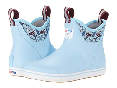 XTRATUF Salmon Sisters Blue Mermaid Life Ankle Deck Boot (Light Blue) Women