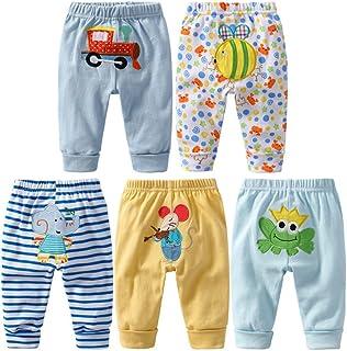 AKDSteel 5PCS Baby Fashion PP Pants Cartoon Animal Printing Cotton Baby Trousers Kid Wear Baby Pants