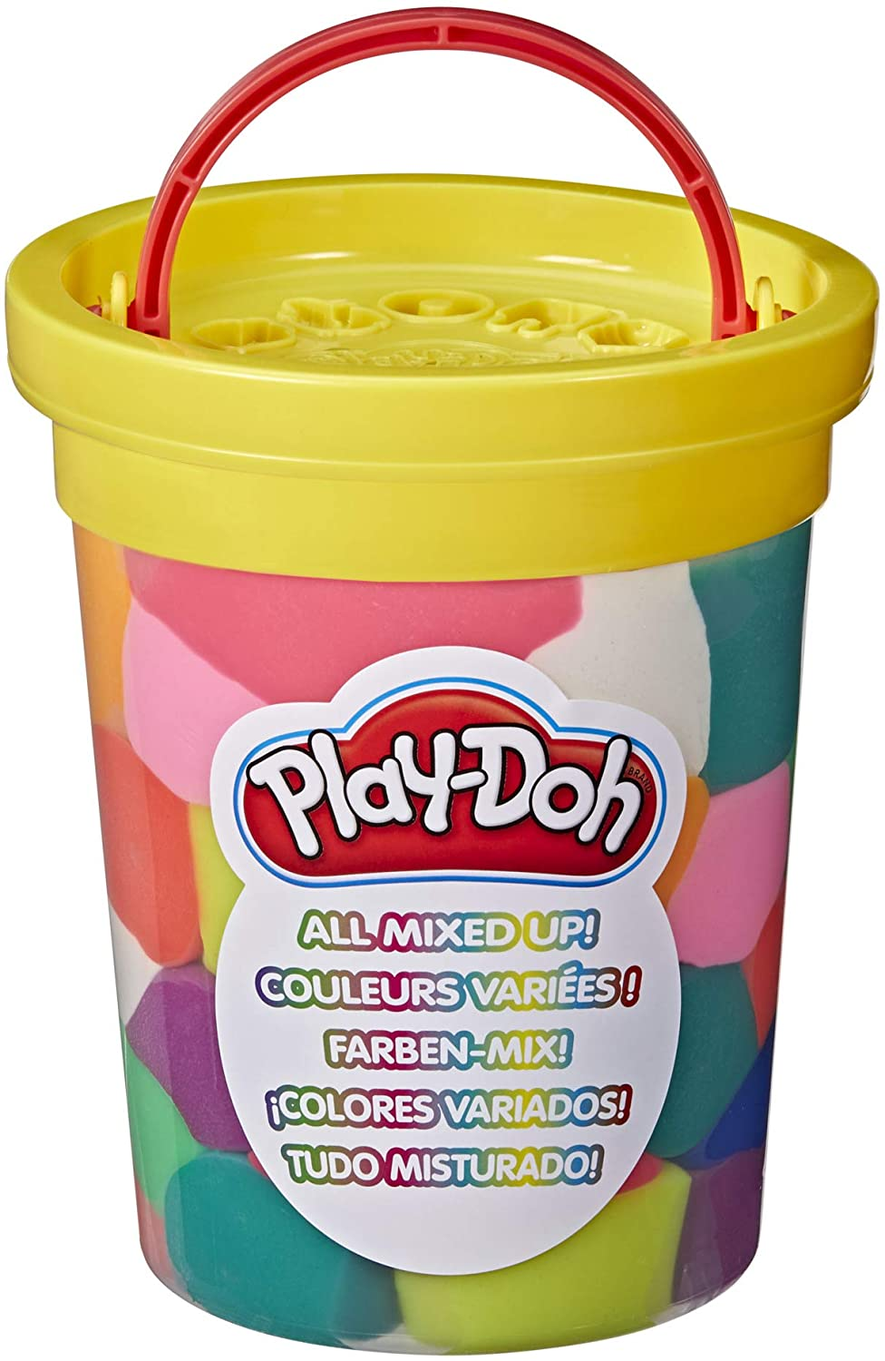 Play-Doh All Mixed Up Big Can of Crazy Pre-Mixed Assorted Modeling Compound Colors for Kids 2 Years and Up, Non-Toxic, 44 oz/2.75 Lb